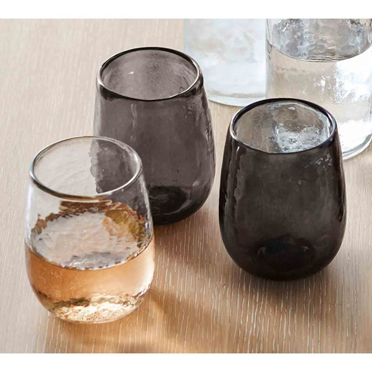 Pottery Barn Hammered Glass Stemless