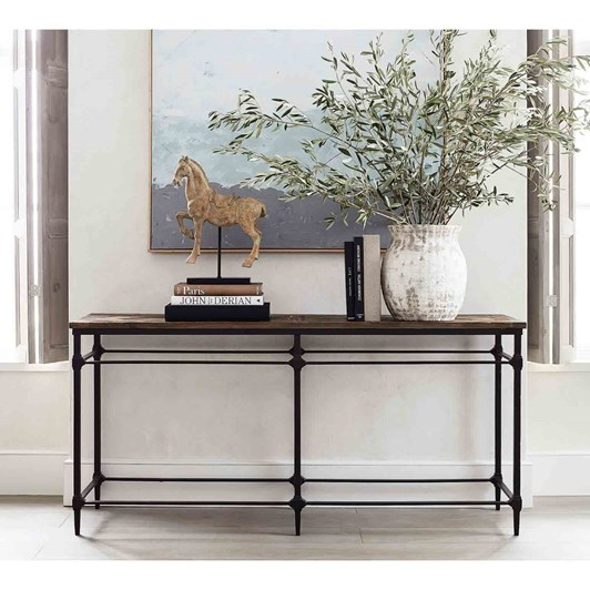 Pottery Barn Parquet Console Natural