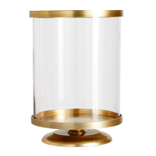 Pottery Barn Chester Brushed Hurricane Brass Large