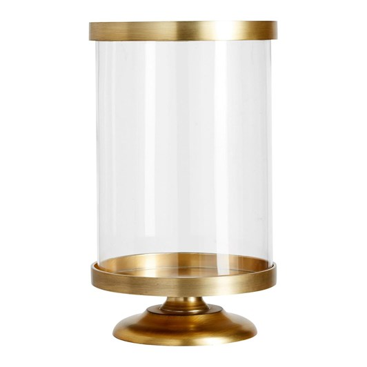 Pottery Barn Chester Brushed Hurricane Brass Small