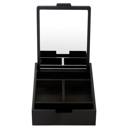 Nel Lusso Tokyo Jewellery Box With Mirror Black 22x16x4 cm