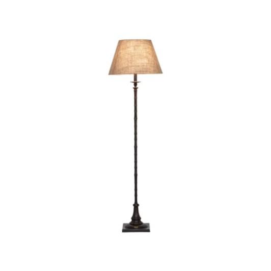 OneWorld Bronze Square Base Floor Lamp