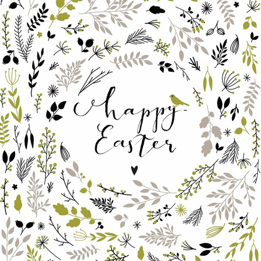 Happy Easter Green Luncheon Napkin