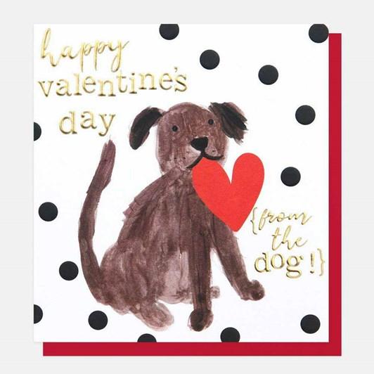 Caroline Gardner Happy Valentines From The Dog Card
