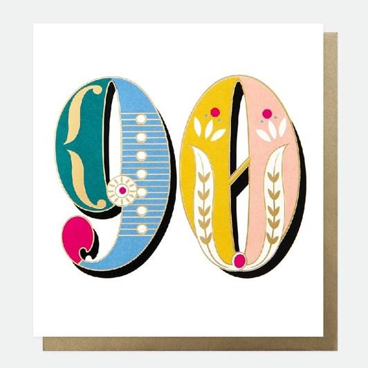 Caroline Gardner Carnival 90Th Birthday Card