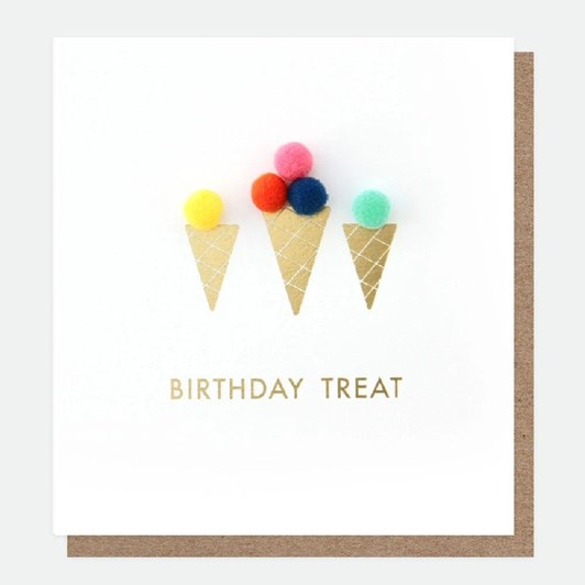 Caroline Gardner Birthday  Treats Mini Poms Card