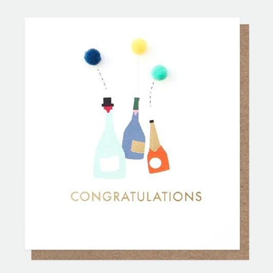 Caroline Gardner Congratulations Mini Poms Card