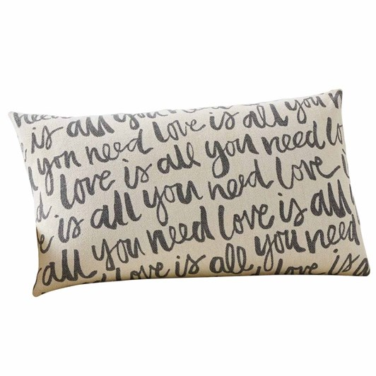 Pottery Barn Love Is All You Need Cushion Cover 16x26 Inch
