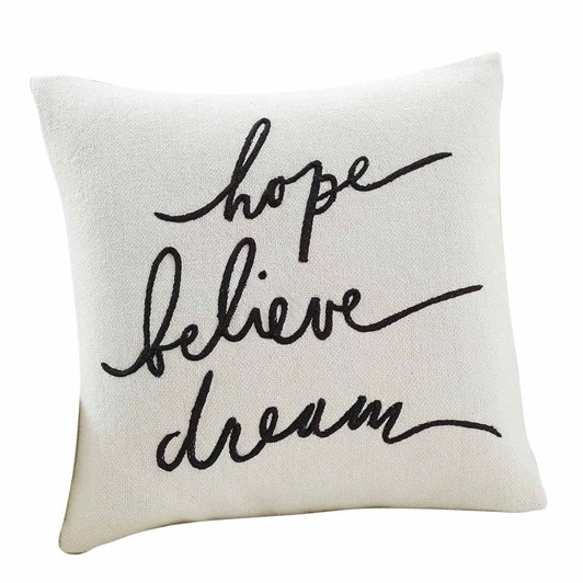 Pottery Barn Hope Believe Dream Cushion Cover 18 Inch