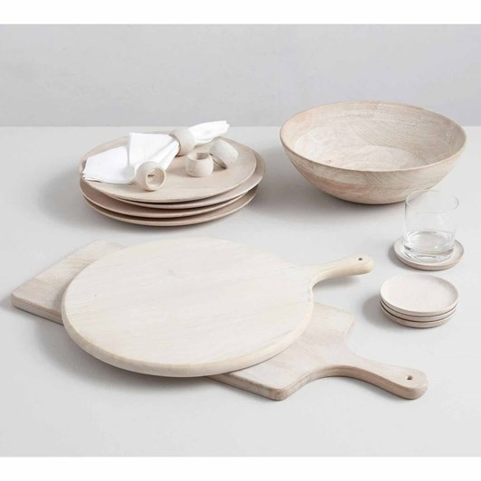 Pottery Barn Chateau Wood Pizza Paddle 15 Inch White