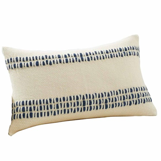 Pottery Barn Reed Stripe Lumbar Cushion Cover 16x26 Inch