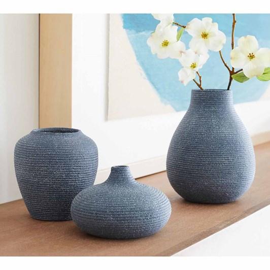 Pottery Barn Bondi Bud Vase Large Blue