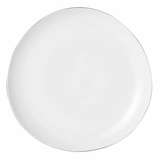 West Elm Organic Gold Rimmed Plate