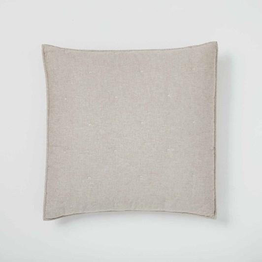 West Elm Metallic Linen Pillowcase Belgian Flax