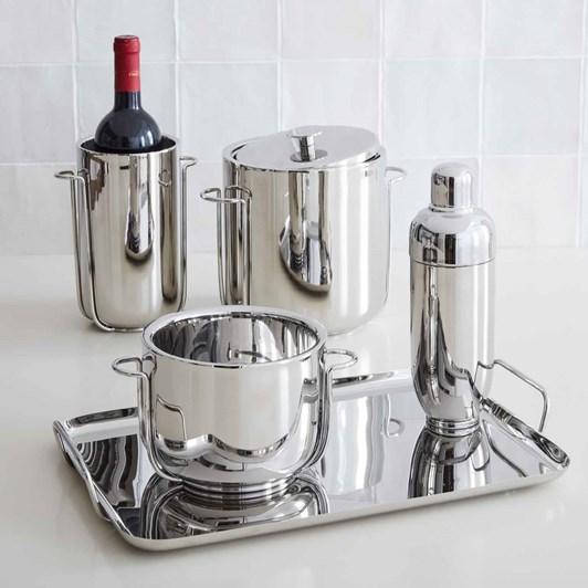 West Elm Blaise Barware Wine Cooler Nickel