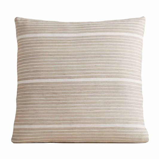 West Elm Silk Mini Stripe Cusion Cover 20x20 Inch Stone