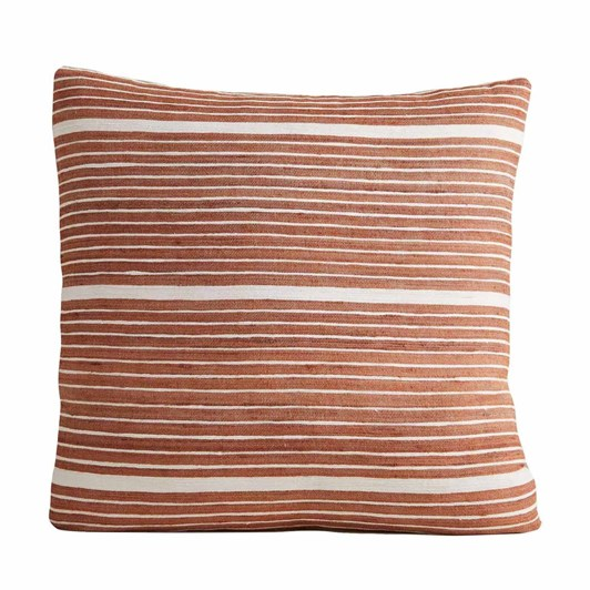 West Elm Cotton Silk Mini Stripe Cushion Cover 20x20 Copper