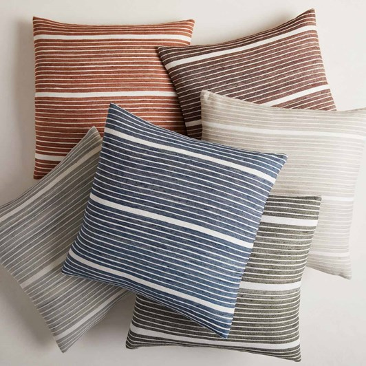 West Elm Silk Mini Stripe Cushion Cover 20x20 Midnight
