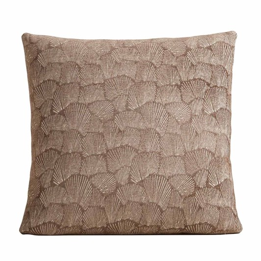West Elm Deco Shells Cushion Cover 20x20 Mocha