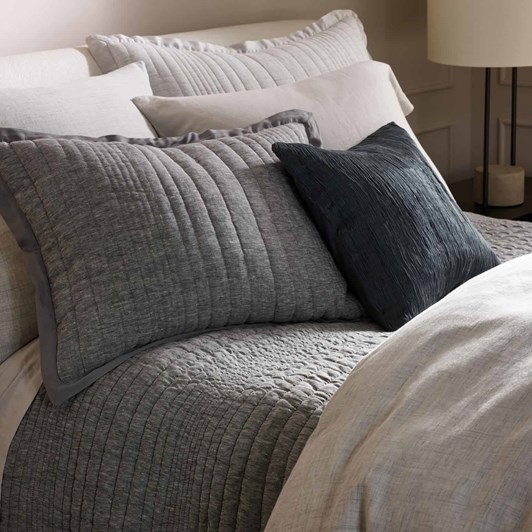 West Elm Plisse Cushion Cover 18x18 Iron Gate