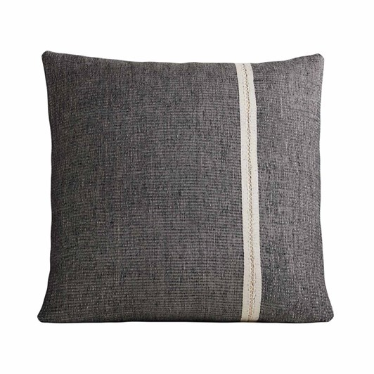 West Elm Silk Mono Stripe Cushion Cover 24x24 Inch Black
