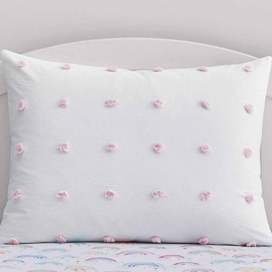 Pottery Barn Kids Tufted Dot Pillowcase