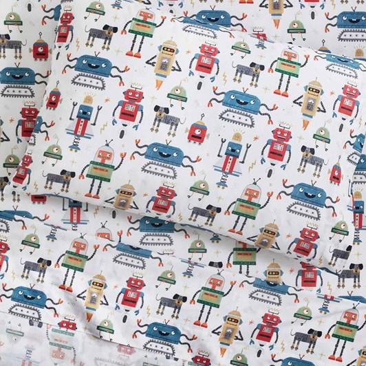 Pottery Barn Kids Organic Robot Squad Pillowcase