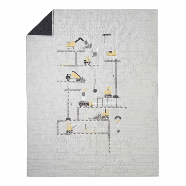 Pottery Barn Kids Ethan Construction Quilt - multi