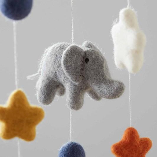 Pottery Barn Kids Elephant Felted Nursery Mobile