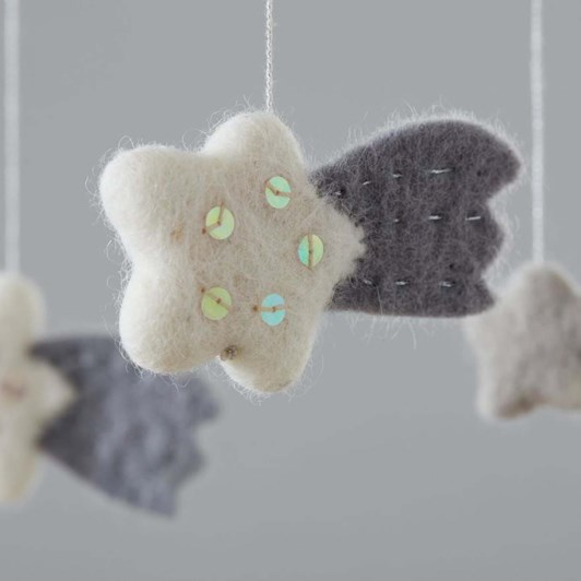 Pottery Barn Kids Moon And Stars Felted Nursery Mobile