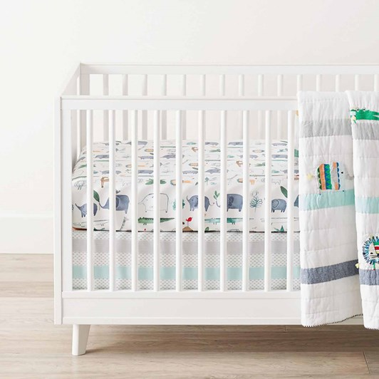 Pottery Barn Kids Organic Colby Animal Crib Fitted Sheet