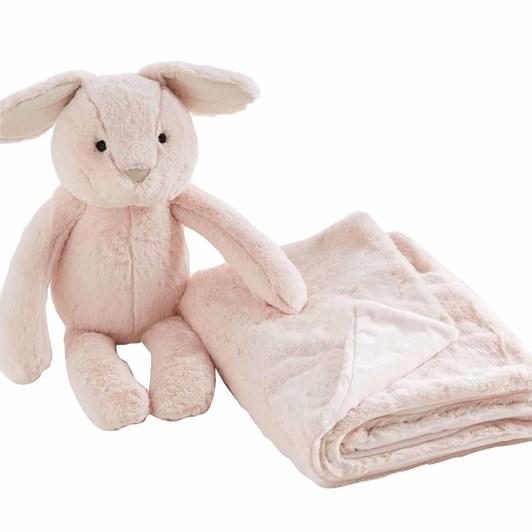 Pottery Barn Kids Bunny Huggie Set Blush