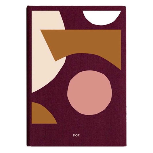 Studio Milligram Spenceroni Soft Cover Linen Notebook Dot Grid A5 Burgundy