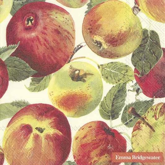 IHR Luncheon Napkin Apples Cream E.B.