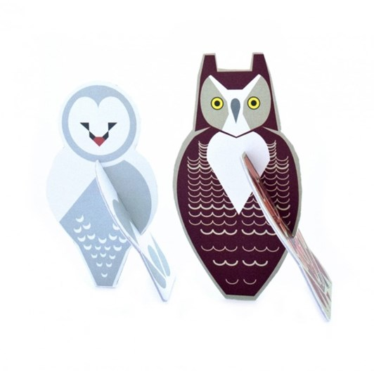 Vevoke Pop Out Card Owls A5
