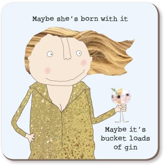 Bucket Gin Coaster