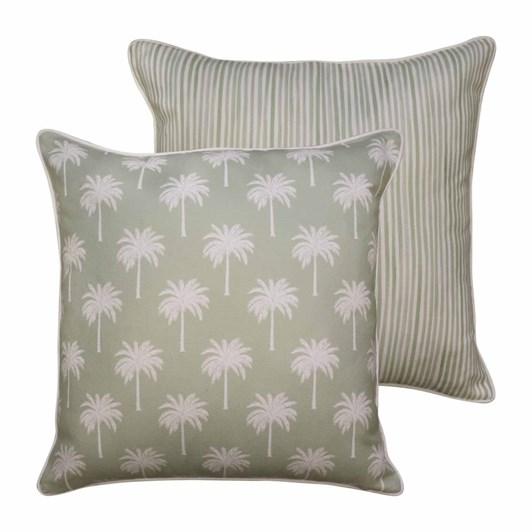 Madras Tropic Light Green Cushion 50x50