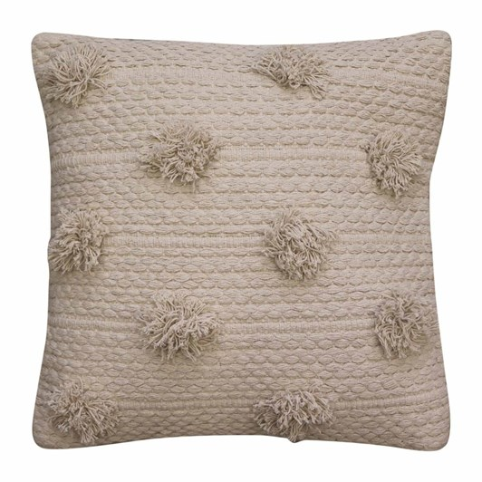 Madras Fez Pom Pom Off White Cushions 50x50