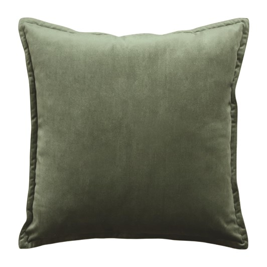 Madras Mira Velvet Olive Cushion 50x50