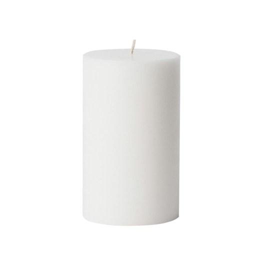 Citta Pillar Candle White M 7.5Cmdiax12.5Cmh