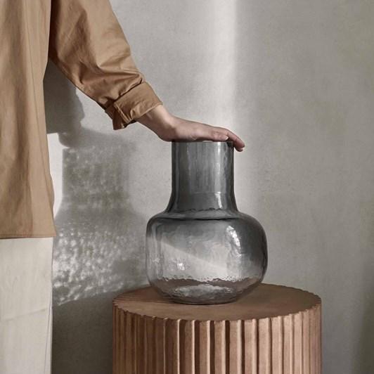 Broste Ingvar Vase Smoked Pearl/Clear