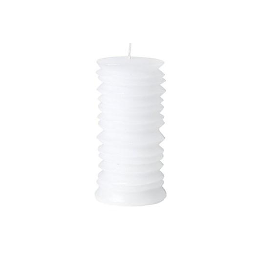 Broste Pillar Circle Candle White H140
