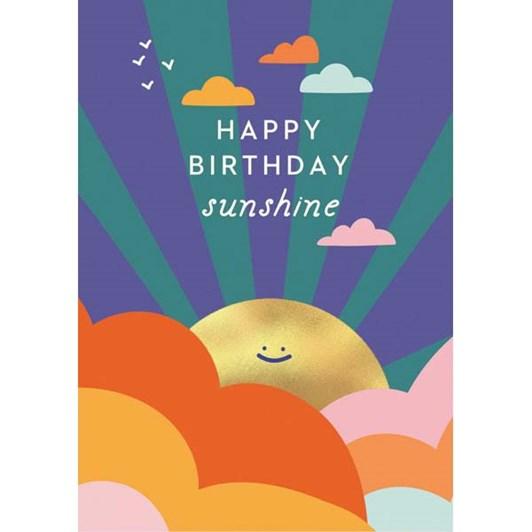 Happy Birthday Sunshine Foil Card