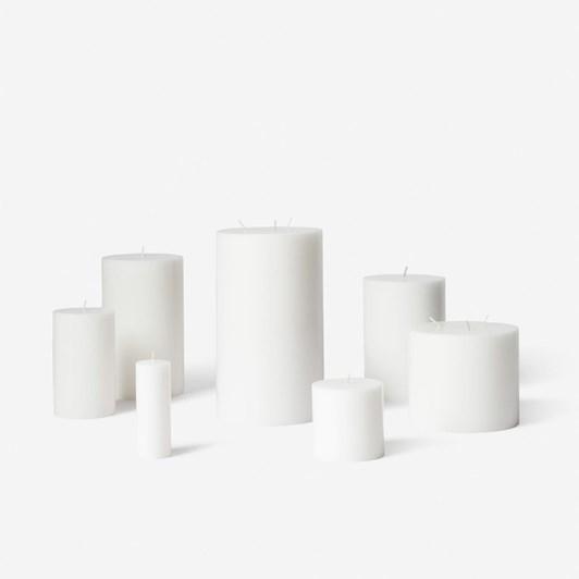 Citta Pillar Candle White XS - 3.7cmdiax10cmh