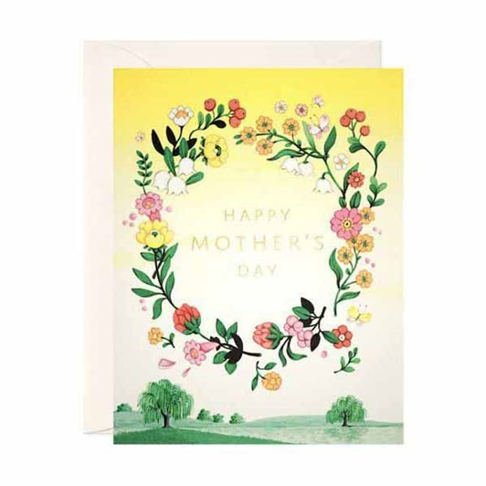 Yellow Floral Mother's Day Foil Card