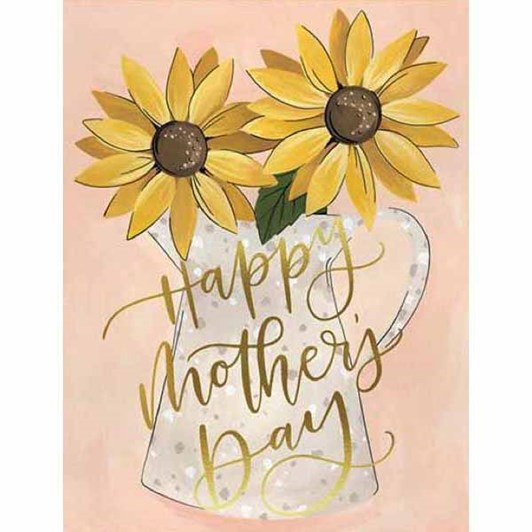 Mothers Day Sunflowers Foil Card