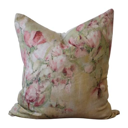CC Interiors Magnolia Limone Linen Cushion 50x50cm