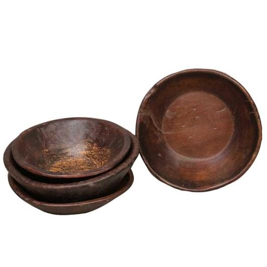 CC Interiors Antique Wooden Chapati Bowl Polished 260-300Dia