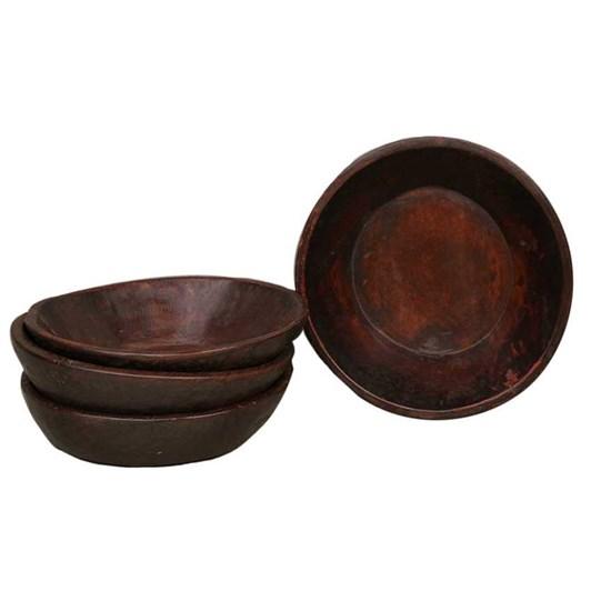 CC Interiors Antique Wooden Chapati Bowl Polished 310-350Dia
