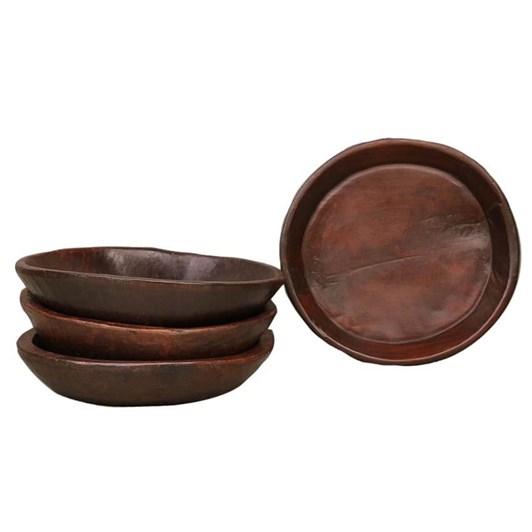 CC Interiors Antique Wooden Chapati Bowl Polished 360-400Dia